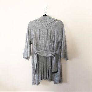 Anthropologie Sweaters - Anthropologie Moth Puckered Pleated Gray Sweater